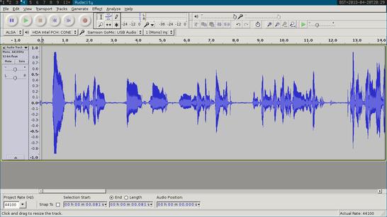 Audacity sound editor