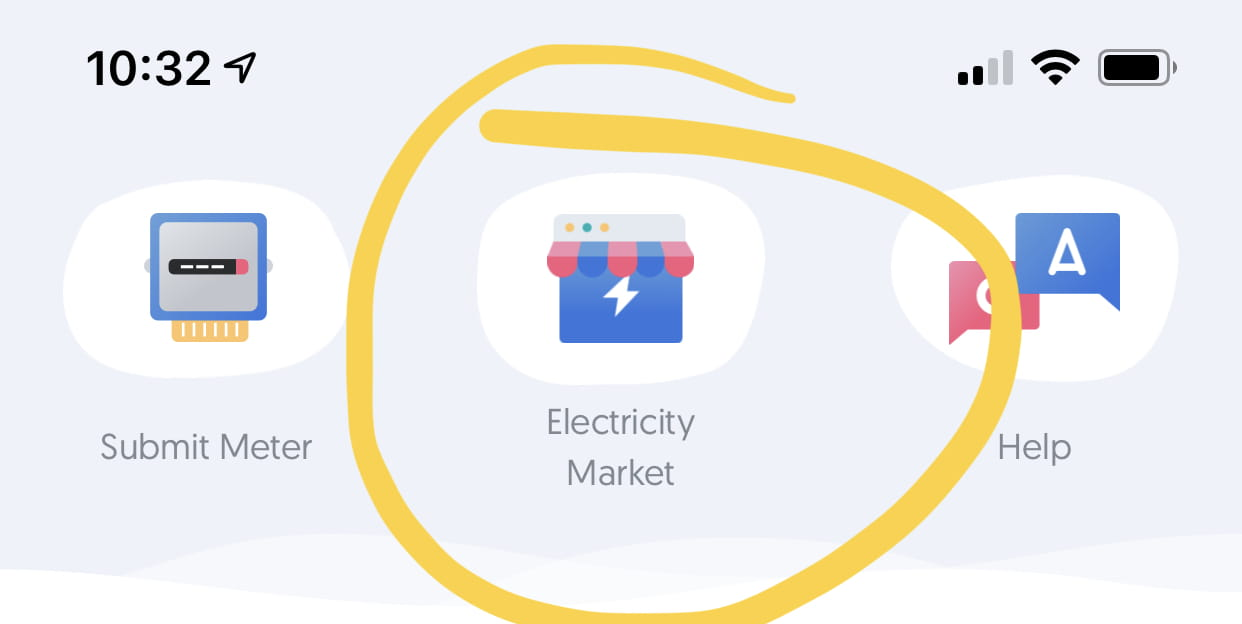 Go to the electricity market