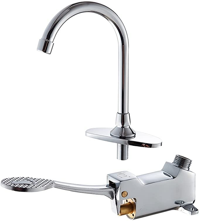foot controlled system faucet